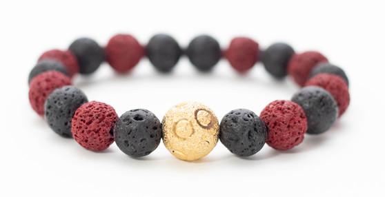 Black & Red Lava Rock Bracelet
