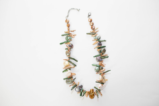 Multi Color Stick Pearl Necklace Set