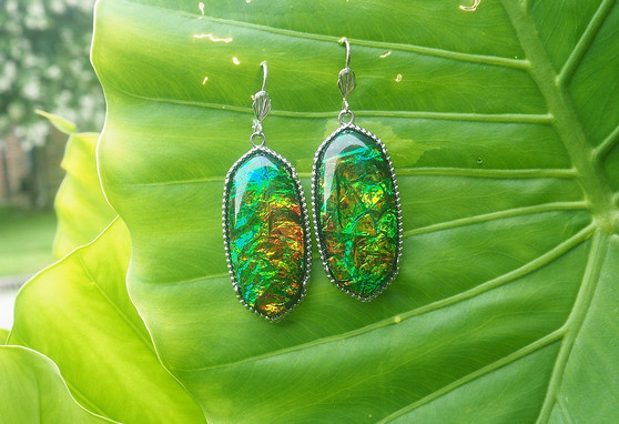 """Blue/ Green """"Serene"""" Earrings"""