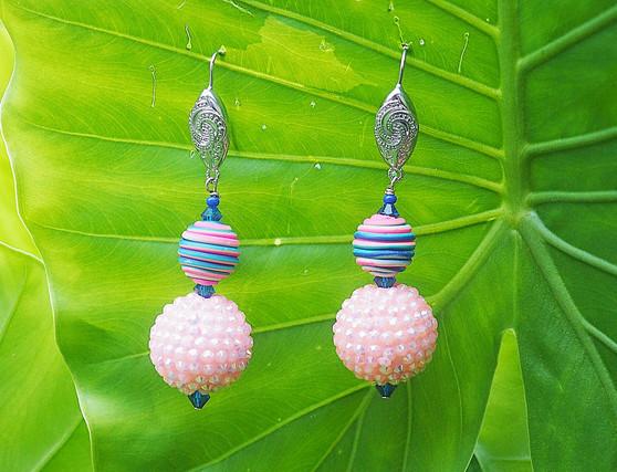 Simply Pink Dangling Earrings