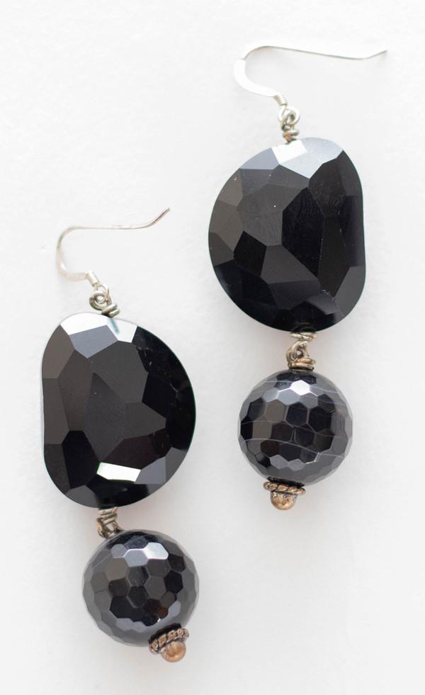Faceted Black Onyx Necklace Set