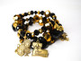 Black & Gold NOLA Charm Bracelet Set