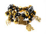 Black & Gold NOLA Charm Bracelet Set
