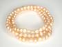 Peach Freshwater Pearl Bracelets