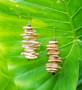 Light Brown Wood Chip Earrings