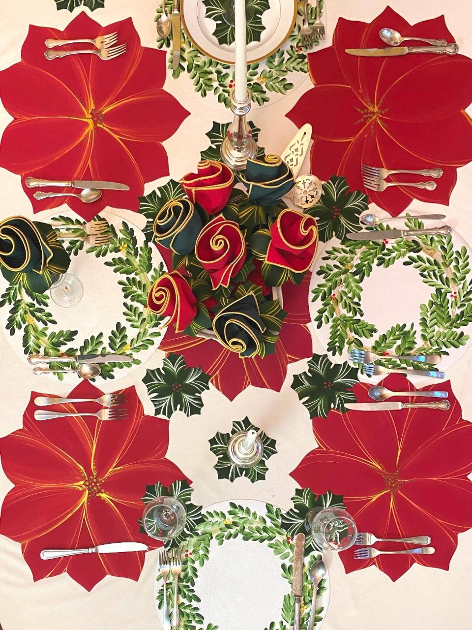 Carole Shiber Christmas Placematss