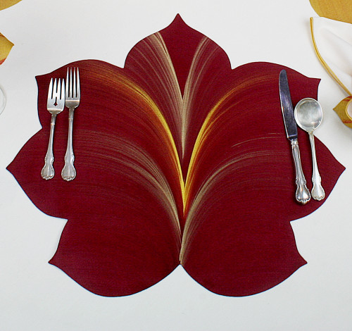 7 Point Fountain Leaf - Burgundy