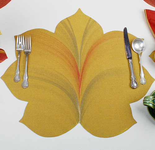 7 Point Fountain leaf - Gold