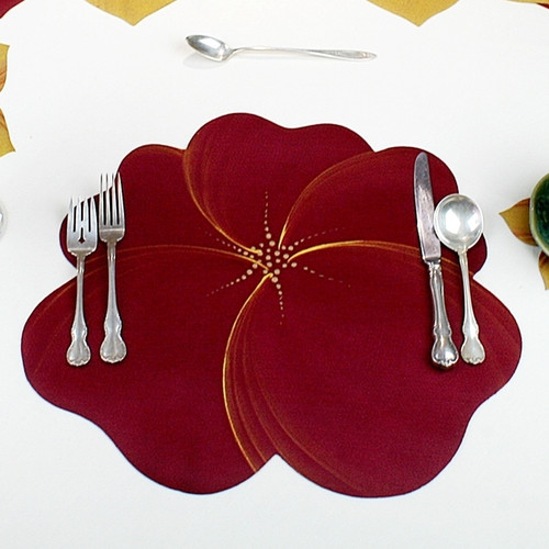 Buttercup Placemat - Burgundy