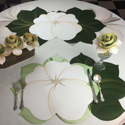 Buttercup Placemat  - White/Gold