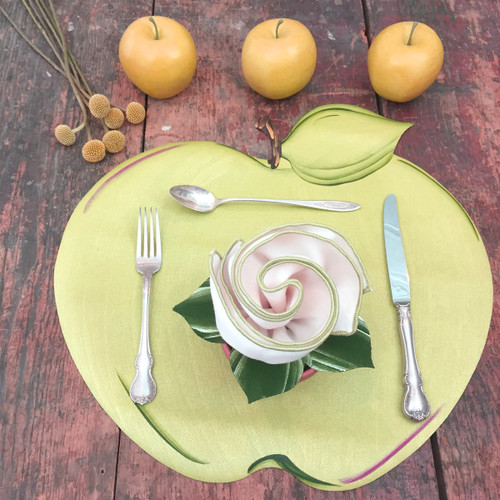Green Apple Placemat with Napkin