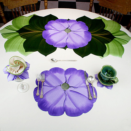 Garden Party Pansies! - Purple Placemat