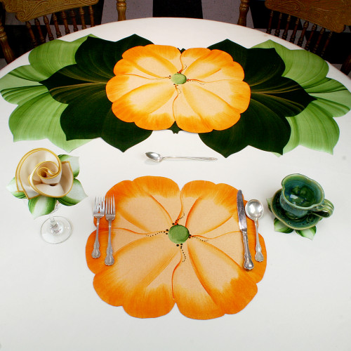 Garden Party Pansies! - Orange Placemat