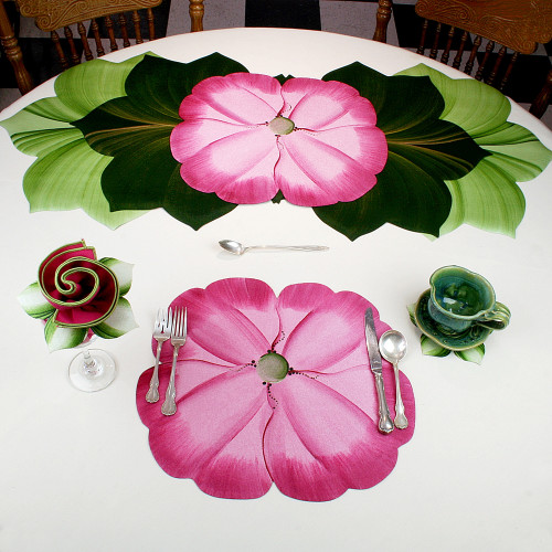 Garden Party Pansies! - Pink Placemat
