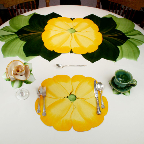 Garden Party Pansies! - Yellow Placemat