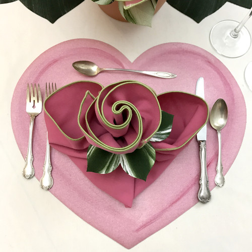 Valentine Hearts Placemat - Pink