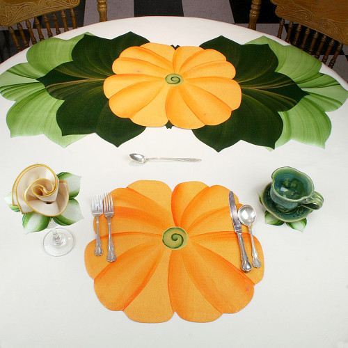 TUTTI FRUITTI FLOWER PLACEMAT- Orange