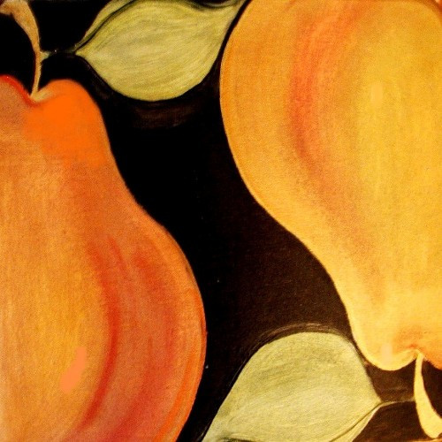 Carole Shiber Original Painting: Another Pair of Pears