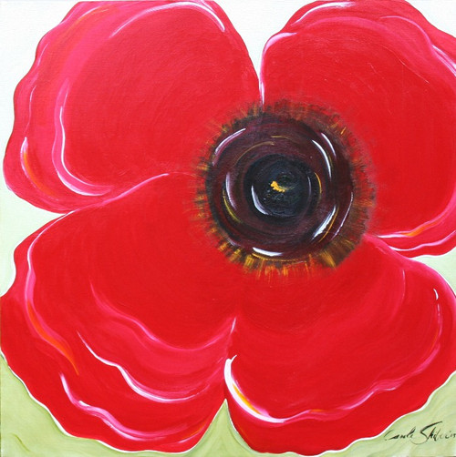 Carole Shiber Original Painting: The Red Poppy