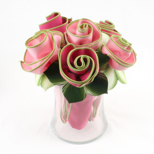 Assorted Pinks Napkin Bouquet