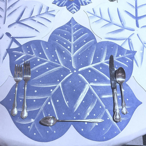 Snowflake Placemat, Blue/White