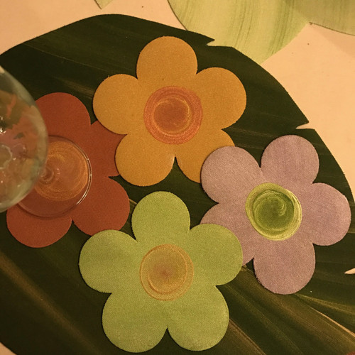 NEW!!! Flower Coasters, Set of 4