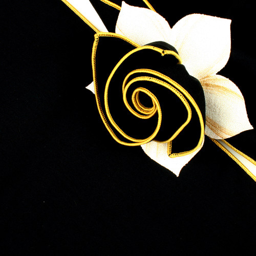 Black with Gold Trimmed  Napkin