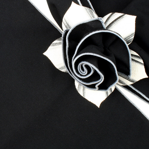 Black with Silver Trimmed  Napkin