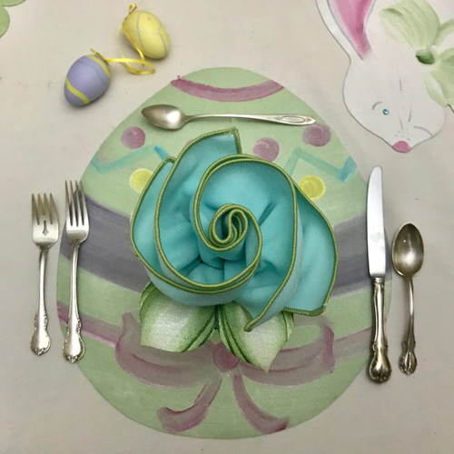Easter Egg & Bouquet Napkin Set