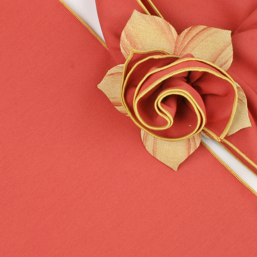 Burnt Orange with Gold Trimmed  Napkin