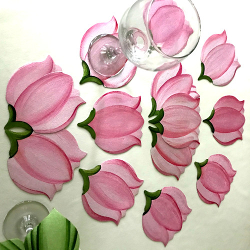 Choose one to one hundred of these hand-painted tulip coasters. Nothing says spring, and new beginnings, quite like tulips.