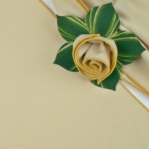 Diane Wheat with Gold Trimmed  Napkin