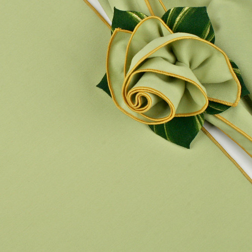 HoneyDew with Gold Trimmed  Napkin