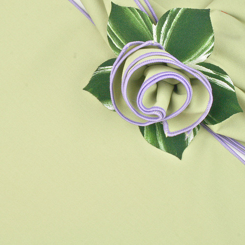 HoneyDew with Lilac Trimmed  Napkin