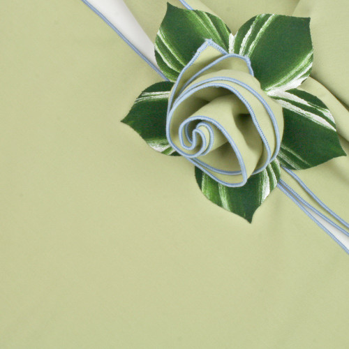 HoneyDew with Light Blue Trimmed  Napkin