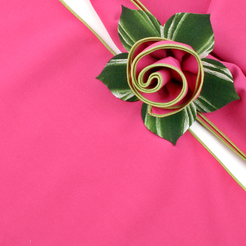 Hot Pink with HoneyDew Trimmed  Napkin