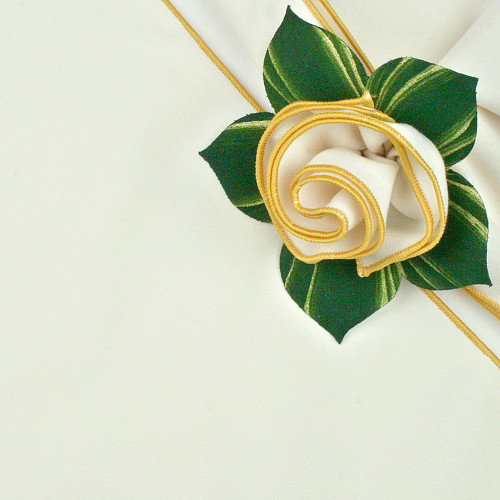 Ivory with Gold Trimmed  Napkin