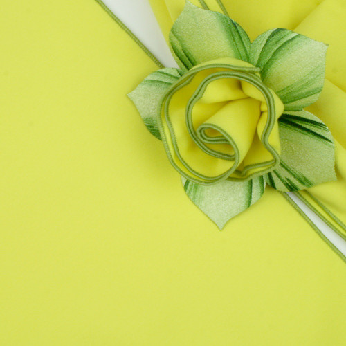 Yellow with HoneyDew Trimmed  Napkin