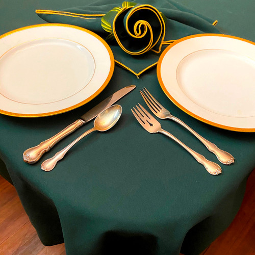 Pair with our forest/gold napkins and our Pine/Gold Leafy Napkin Rings-to-Coasters for the perfect tabletop.