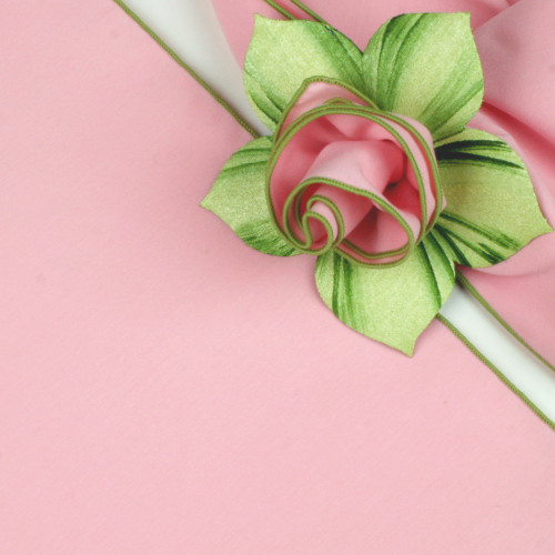 Light Pink with HoneyDew Trimmed  Napkin