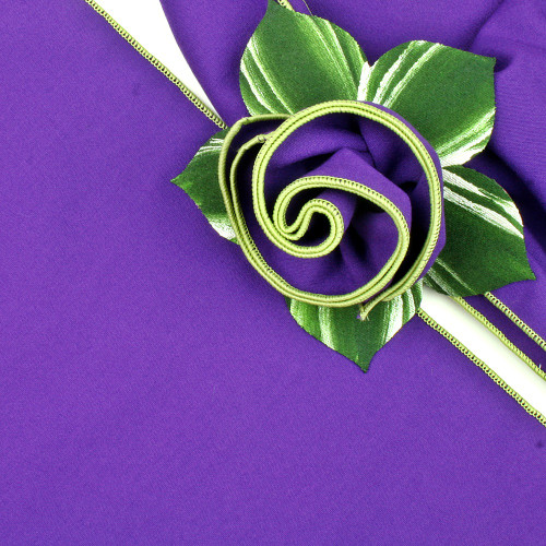 Purple with Honeydew Trimmed  Napkin