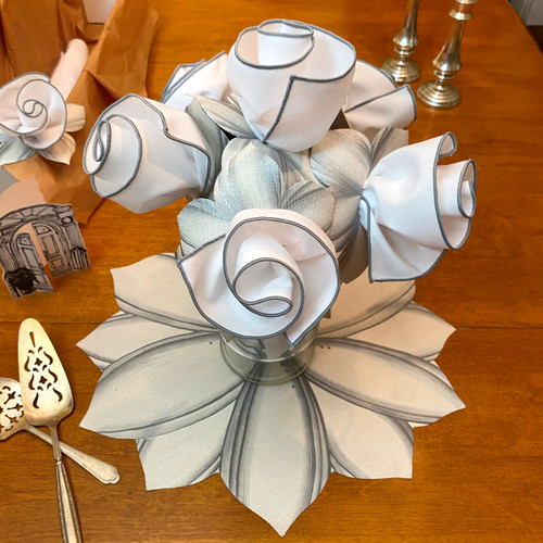 White & Gray Centerpiece