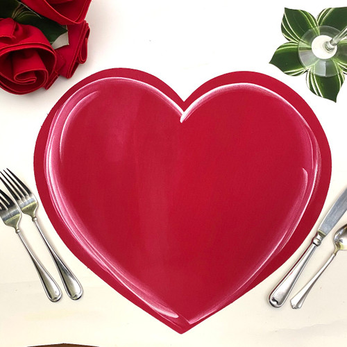 One beautiful red/pink heart at the table can say it all!