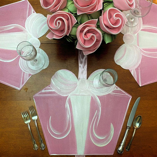 Party Gift Box - Pink/White