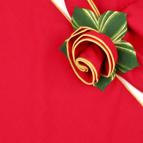 Red with Gold Trimmed  Napkin