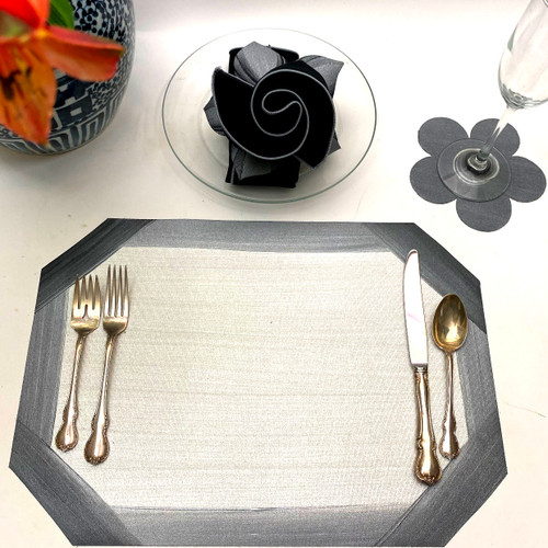 Cutting Corners with Grey on White, Plus Flower Power Coaster
