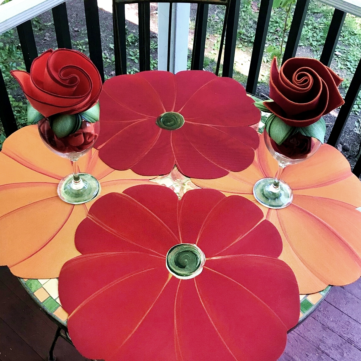 Carole Shiber Poppies and Poinsettias