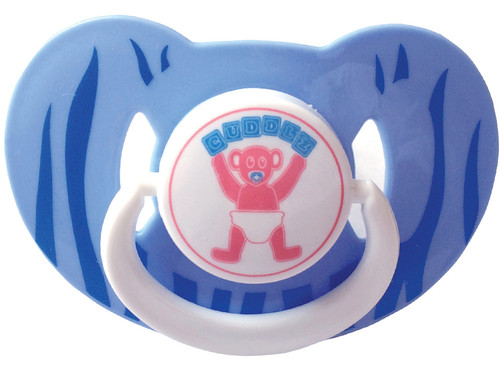 Cuddlz adult size dummy in blue large adult pacifier abdl
