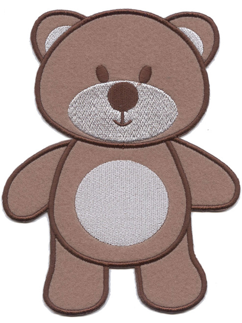 Large Brown Teddy Sew On Motif or Patch for Adult Baby Clothing ABDL