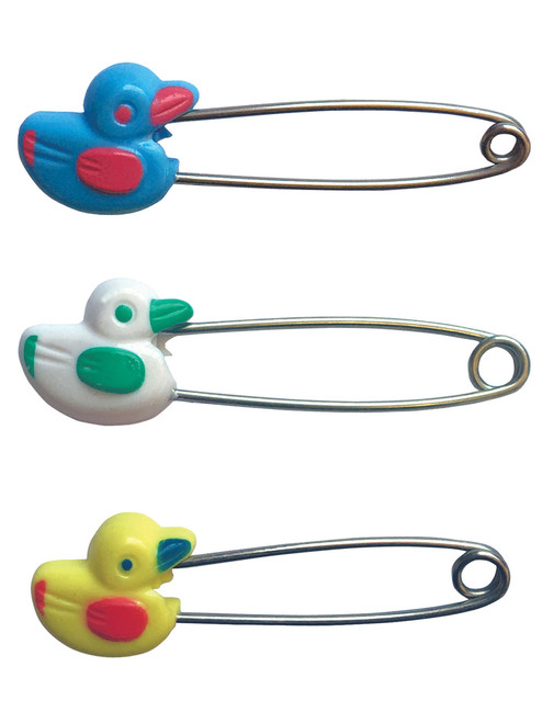 80mm Duck Design Adult Nappy / Diaper Pin Locking Safety Head Pack of 4 Cuddlz ABDL